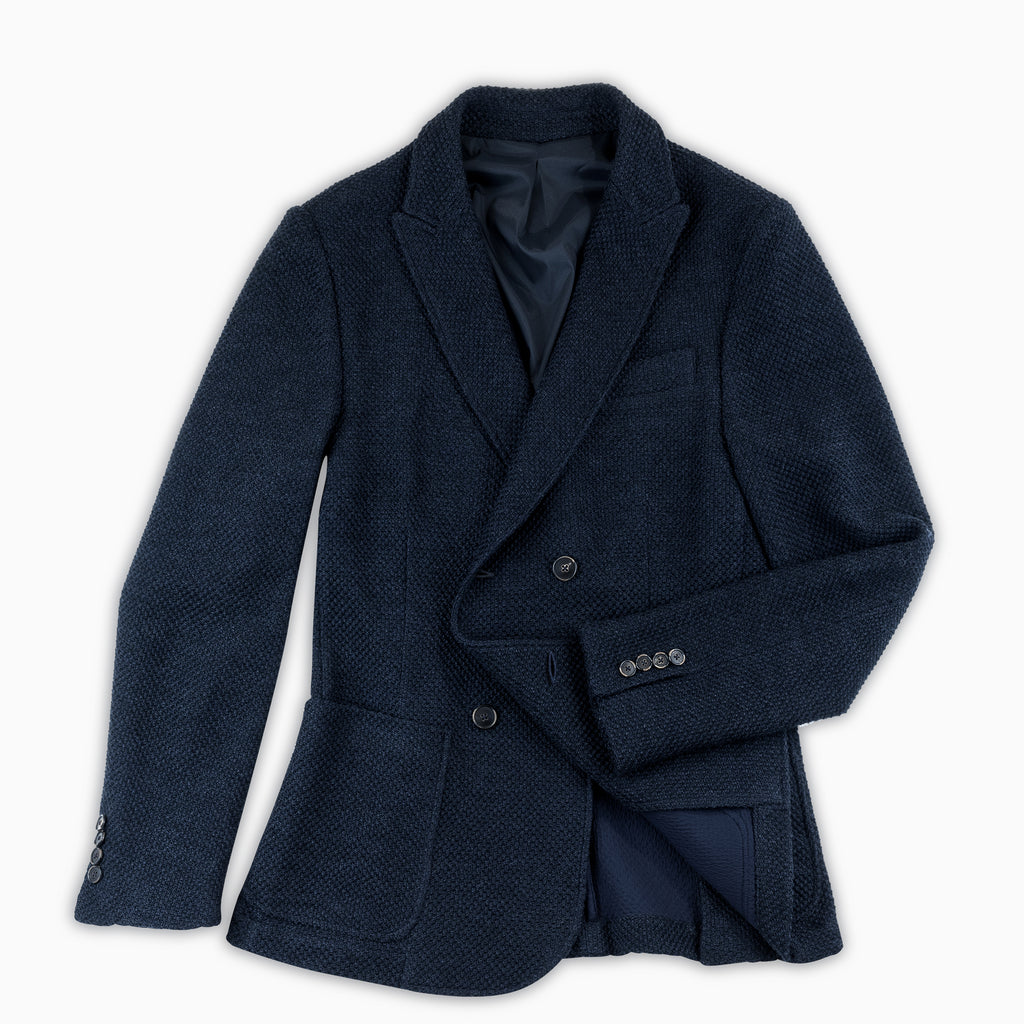 Robel Double brested knitted Blazer Wool (Dark Blue)