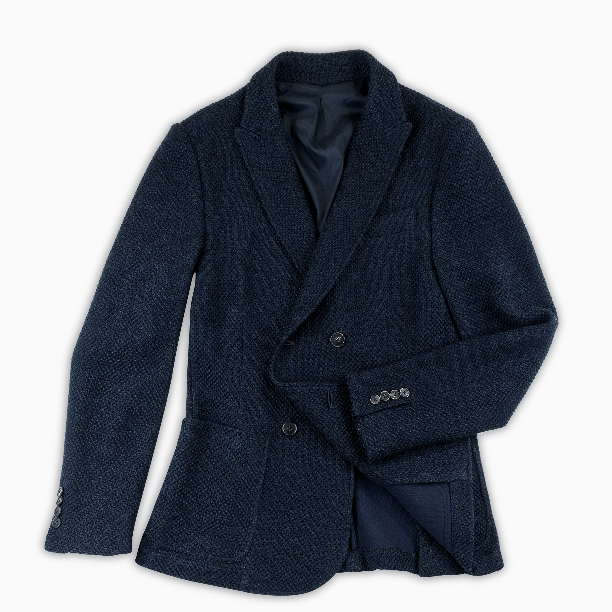 Robel Double breasted knitted Blazer Wool (dark blue)