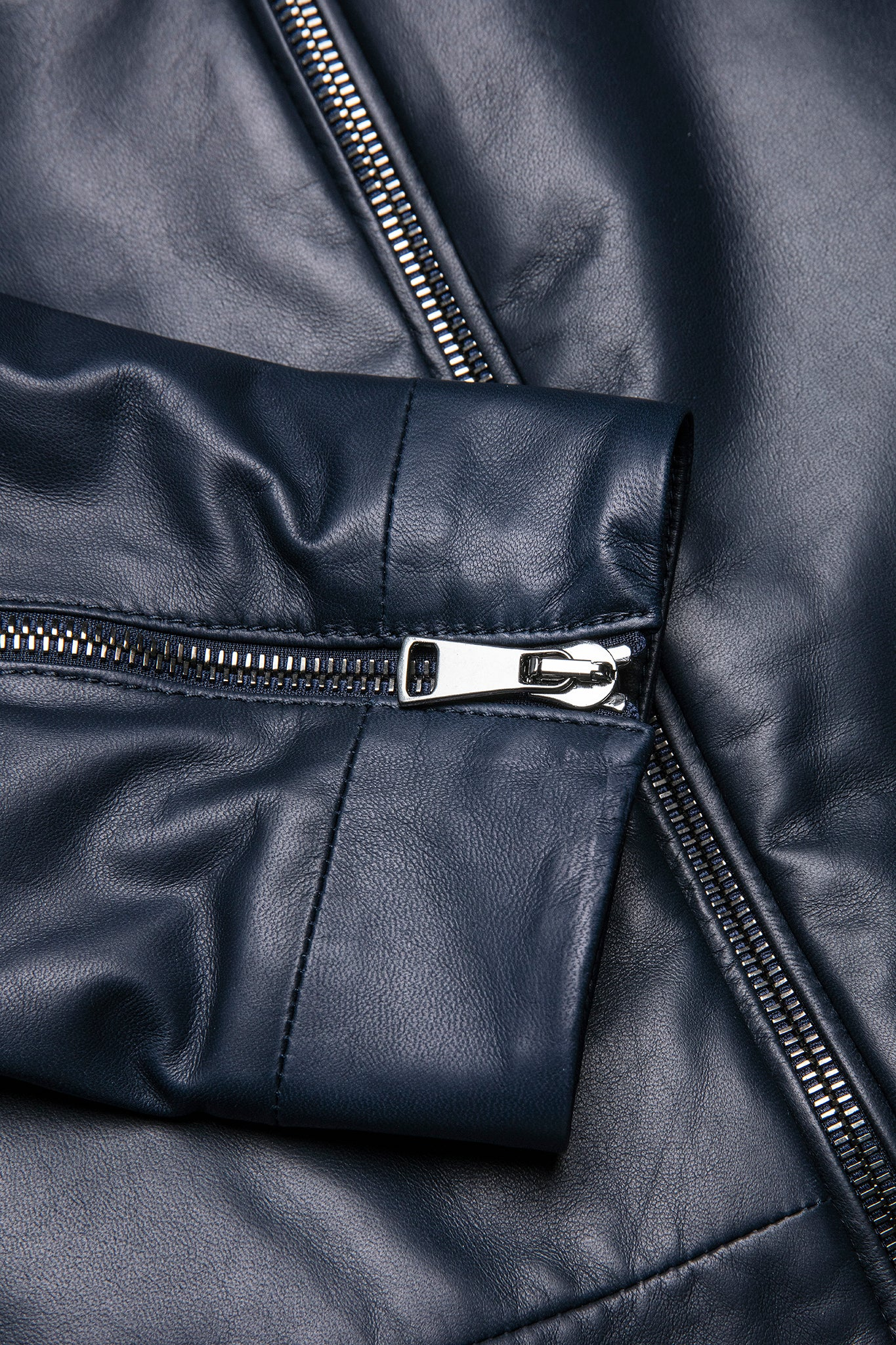 Remon soft-leather jacket in matt soft lamb (dark blue)