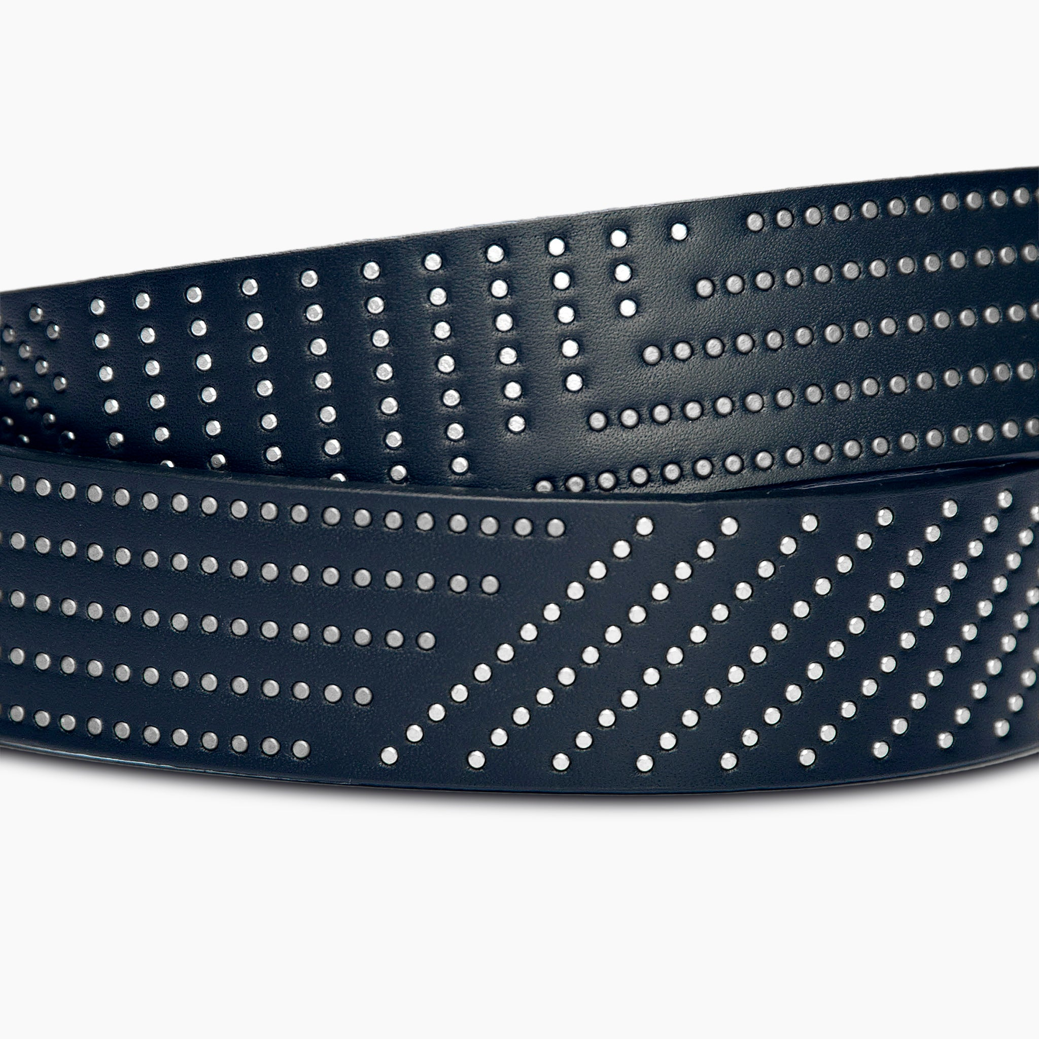 Ricco Vintage Leather Belt (Dark Blue)