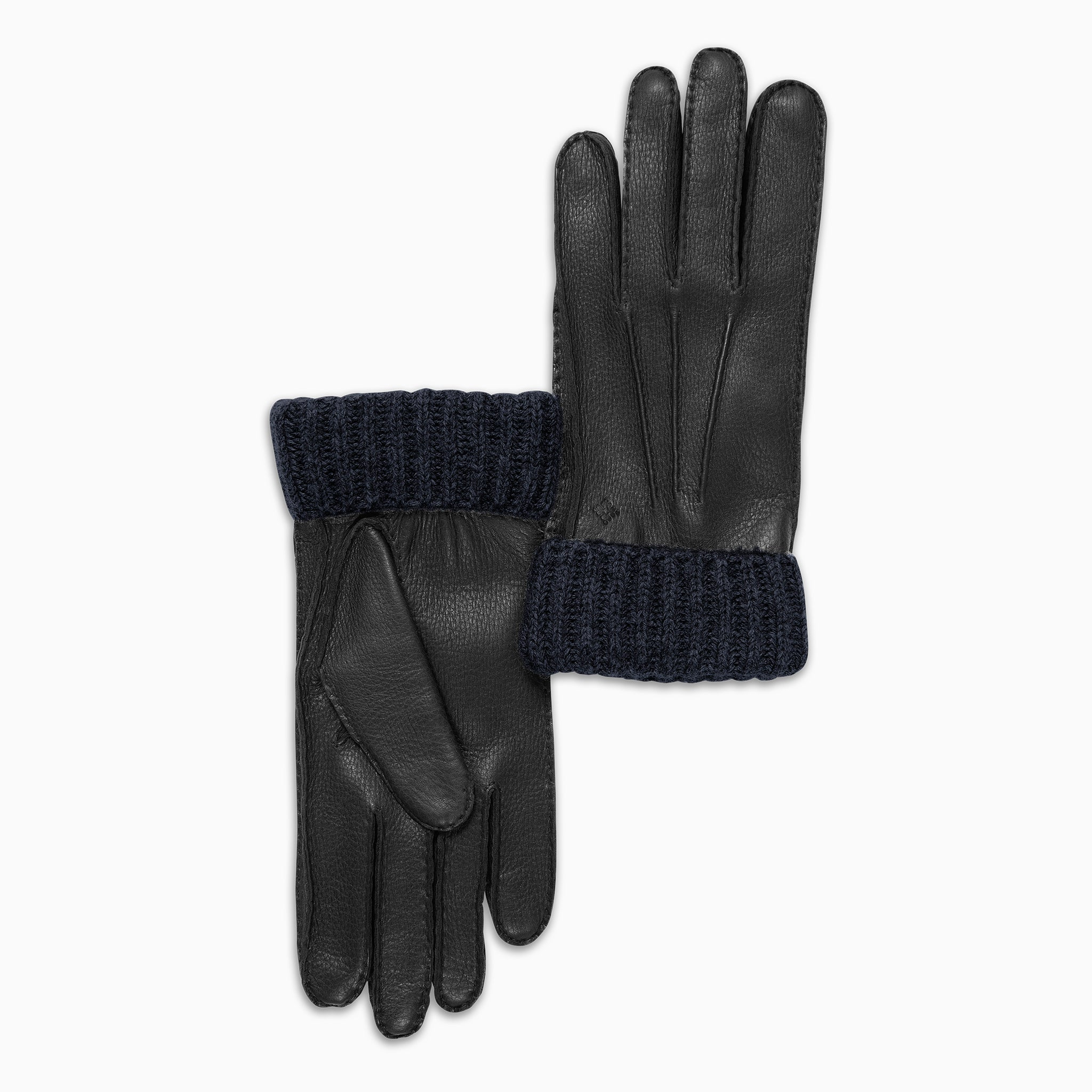 Victor 100% Soft Deer and Interior in Cashmere Gloves (black and blue)