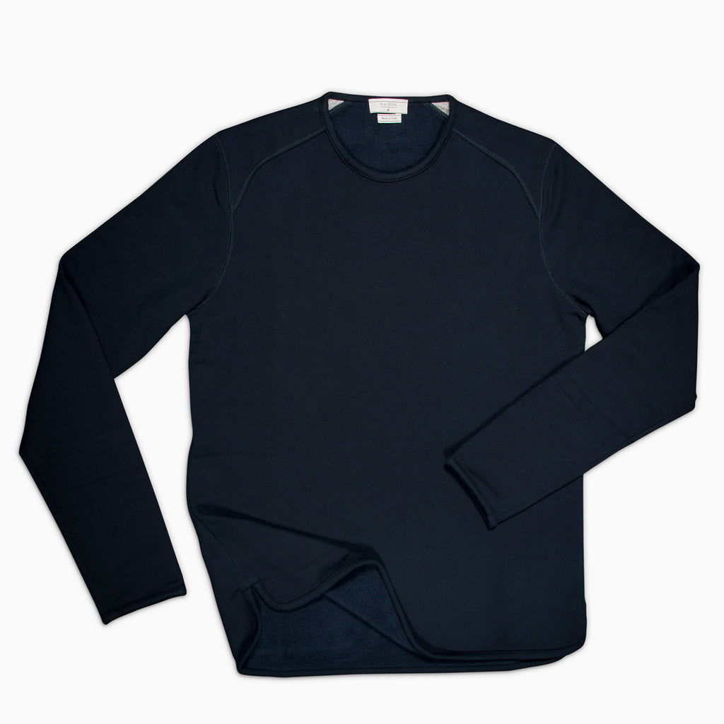 Albin crew-neck fleece (dark blue)