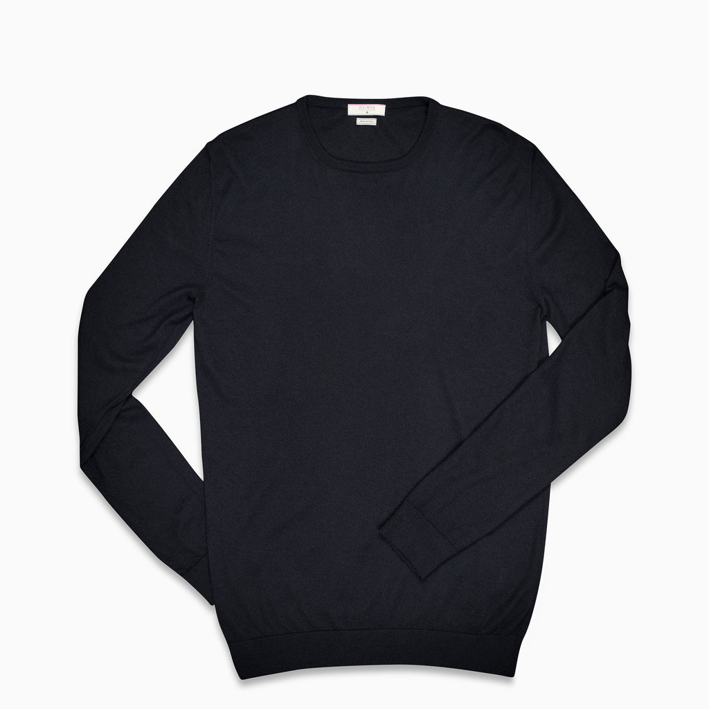 Anaclet crew-neck jumper (merino / dark blue)