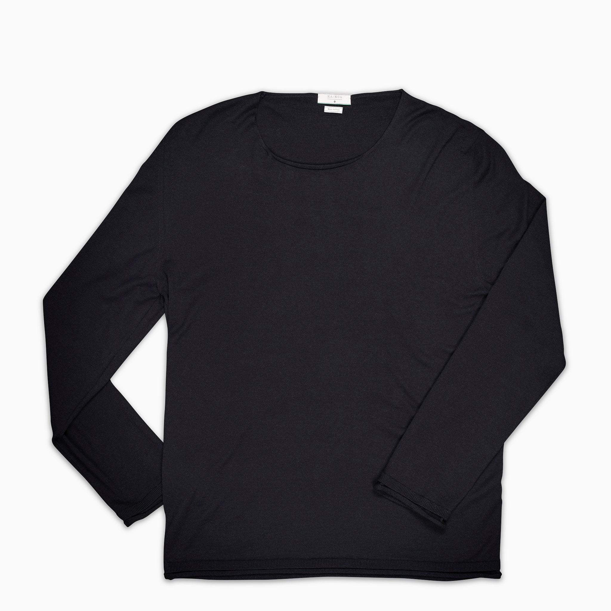 Andreieu crew-neck jumper Superfine Merino Wool (Dark Blue)