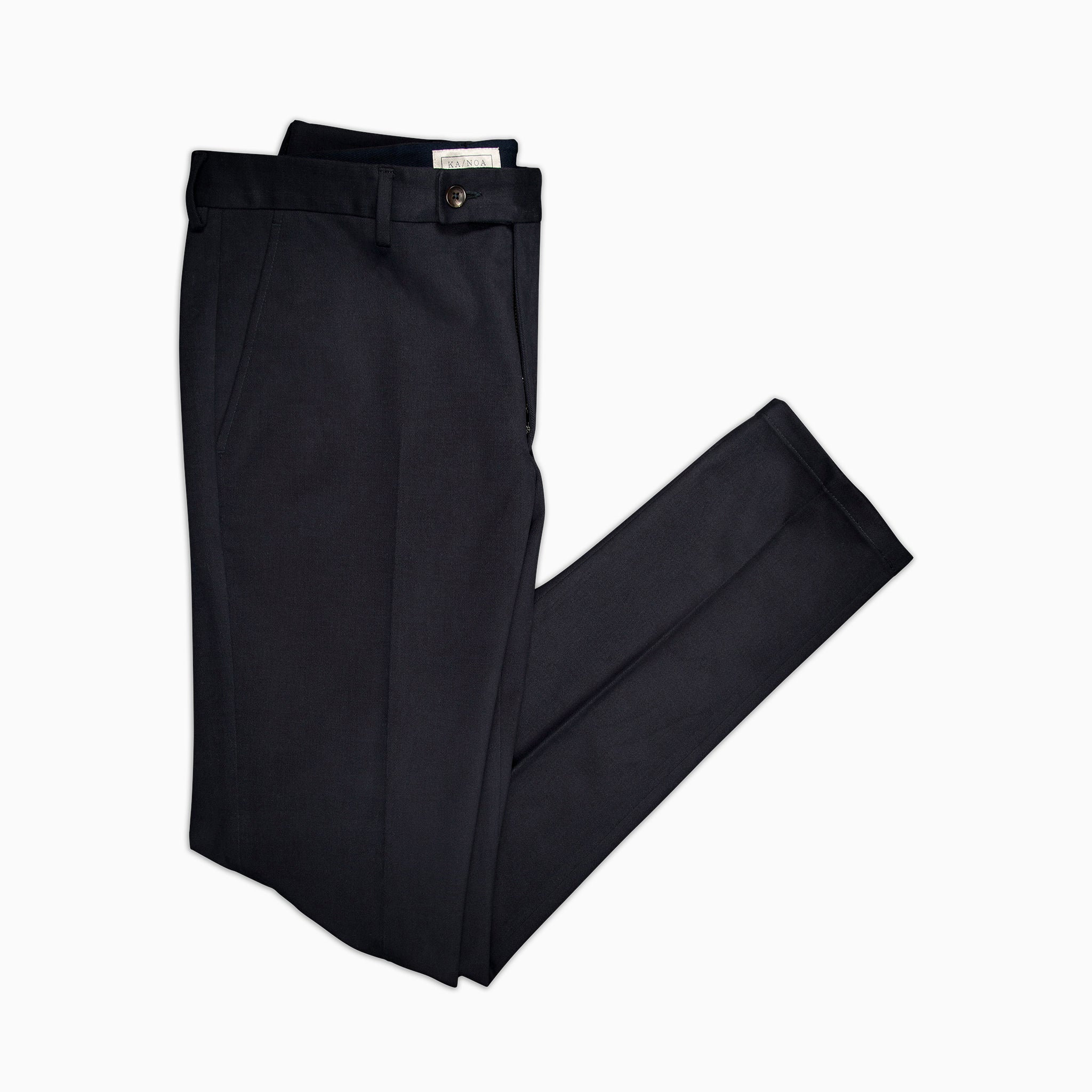 Boris Chino pants Cotton Cashmere (dark blue)