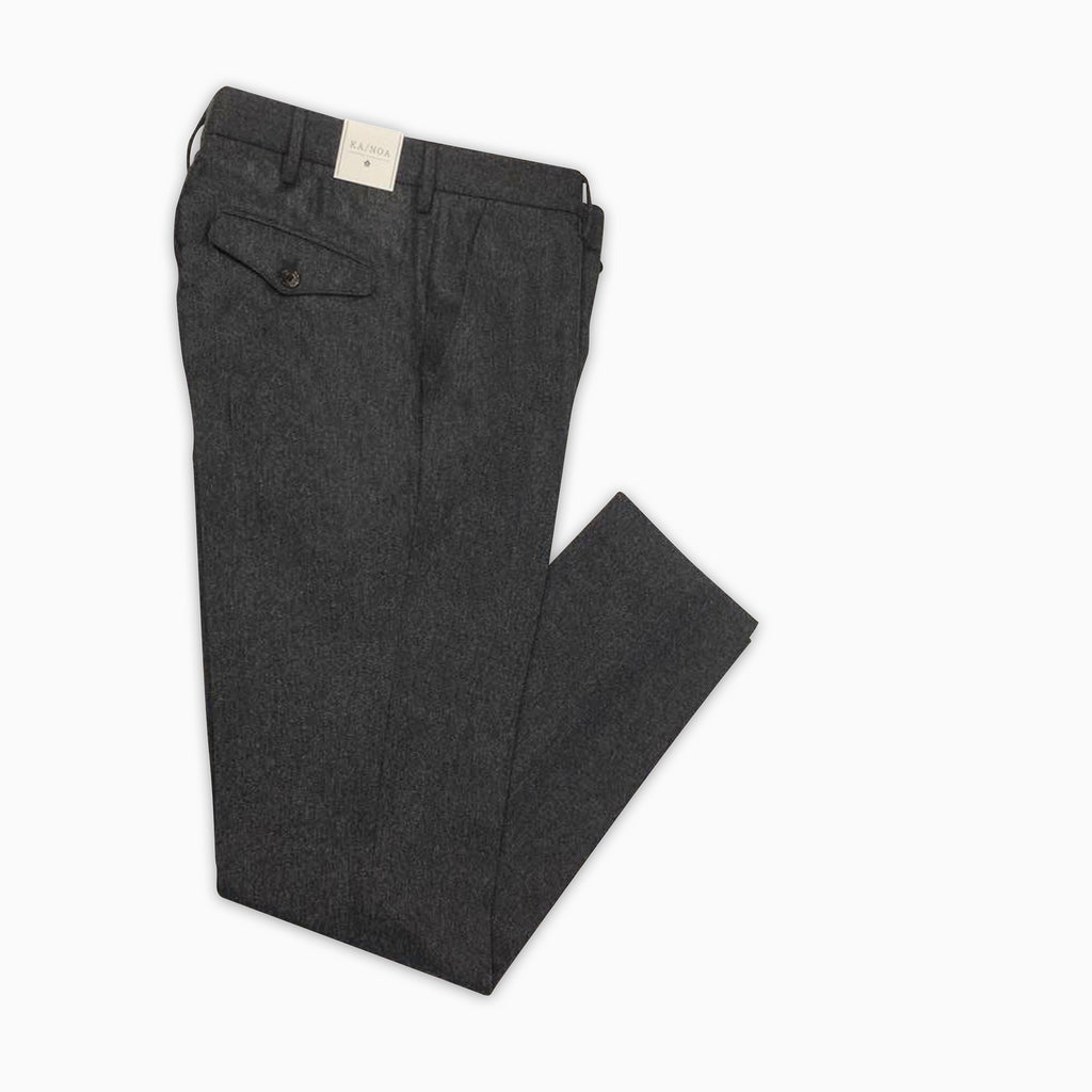 Boris chino pants (medium grey melange wool)