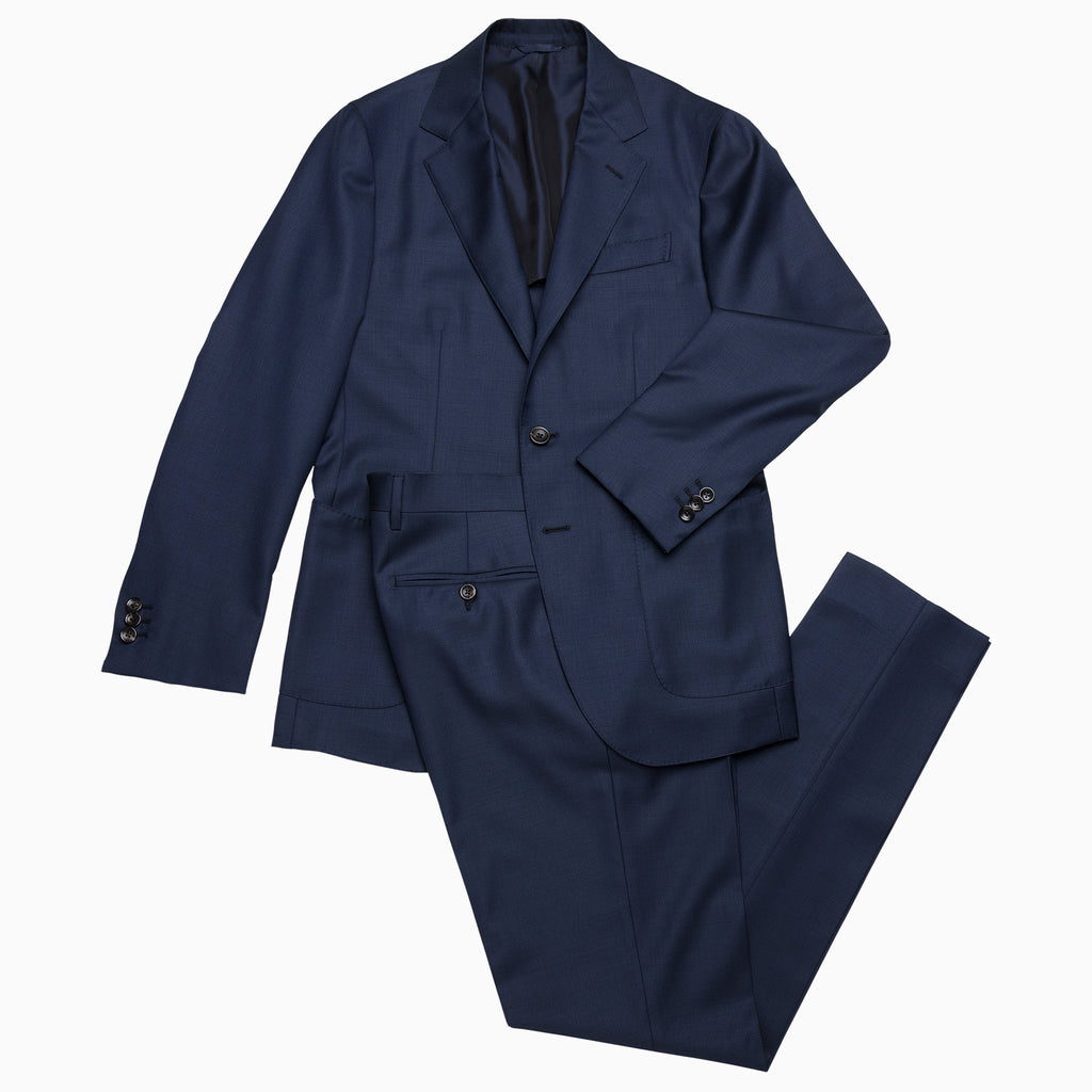 Suit Blazer and Pant in high wool (ocean blue)