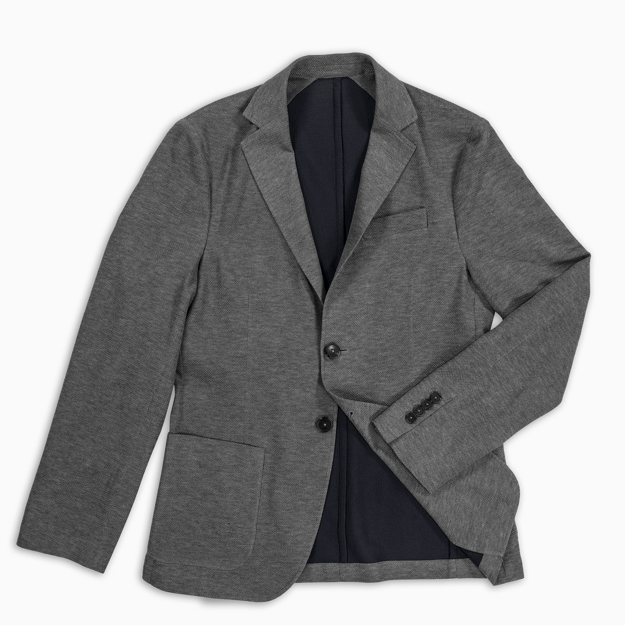 Coustan Light Tech Knit Blazer (medium grey melange)