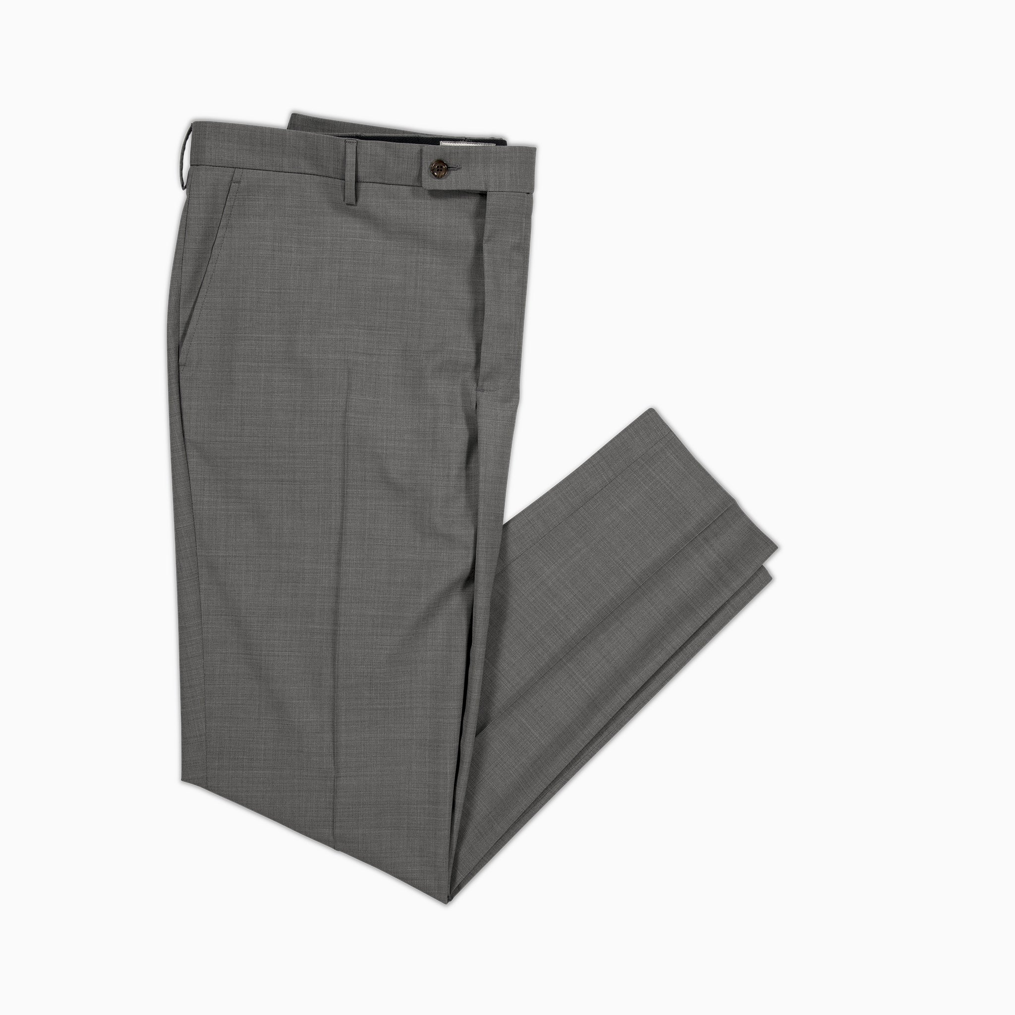 Boris Chino Pants Stretch Light Wool (medium grey melange)