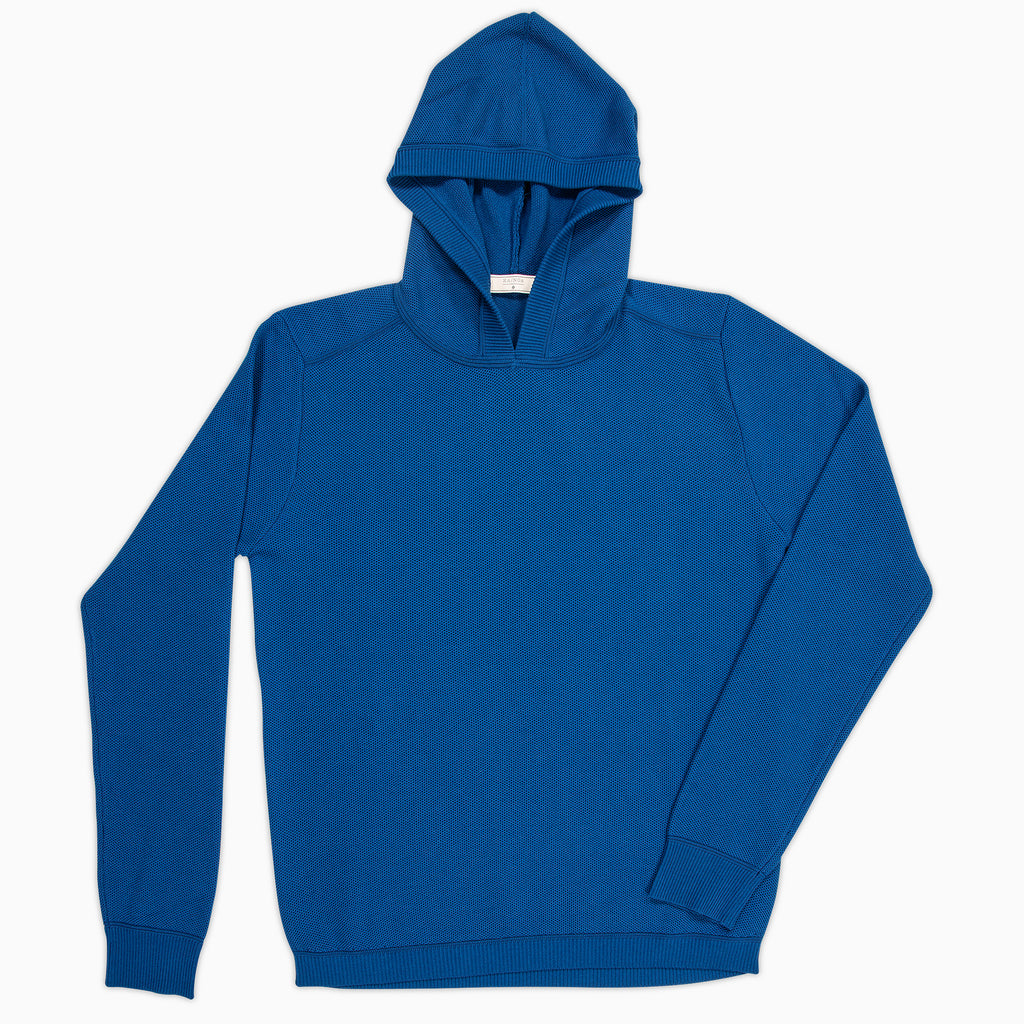 Lesien Hoody Tricot Compact Cotton (lake blue)
