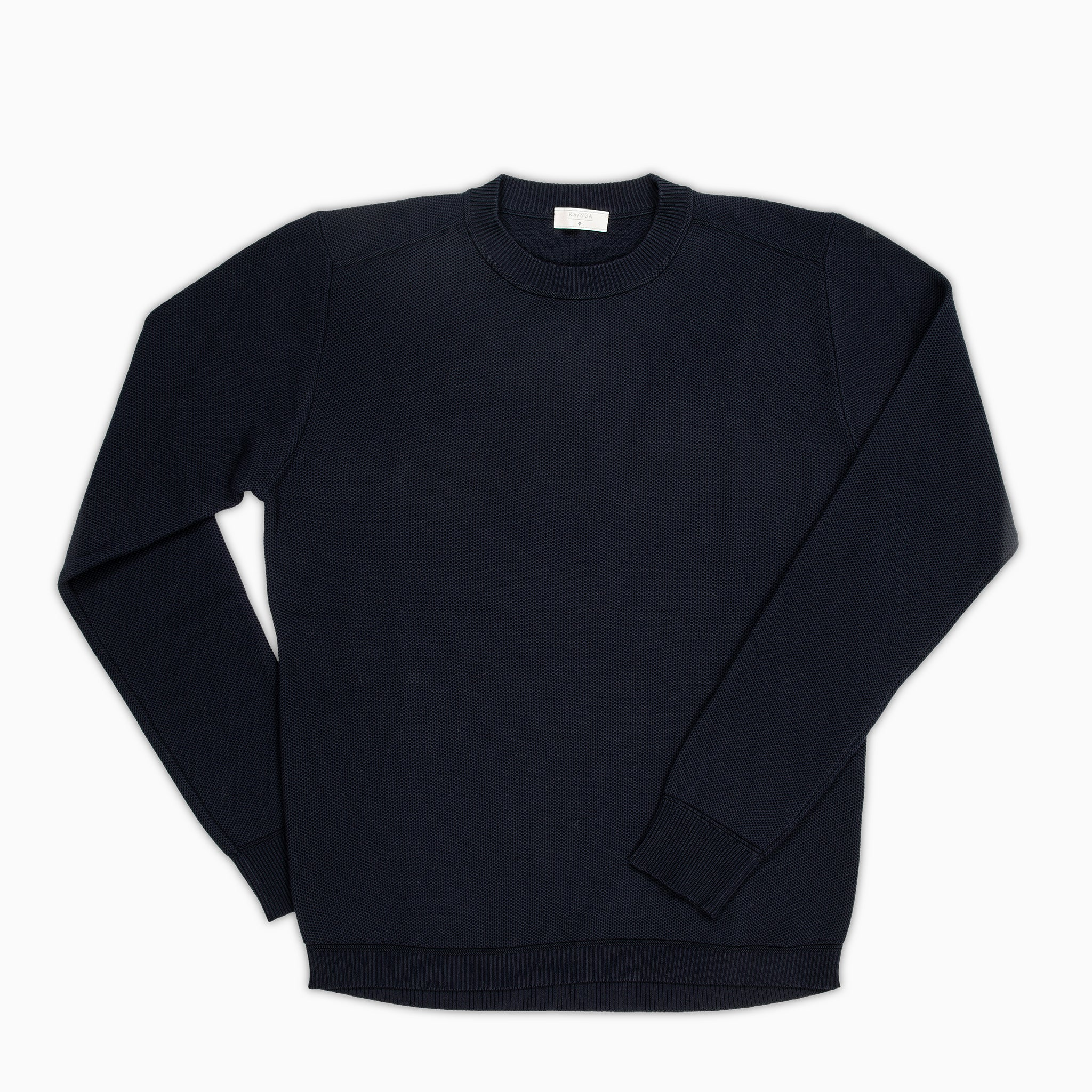 44ee11e1892013 Massimen crew-neck jumper Compact Cotton (dark blue) — KA/NOA