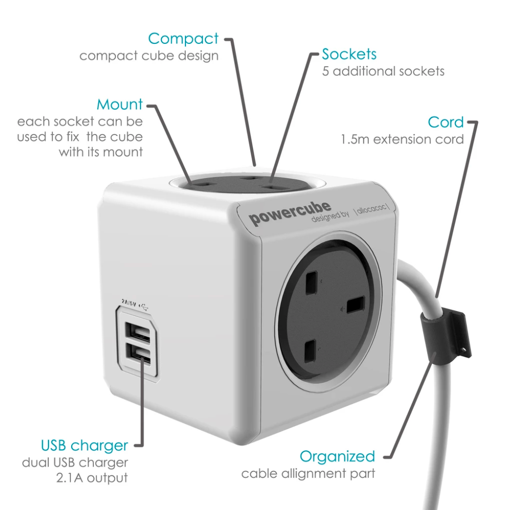 Allocacoc PowerCube Extended USB 1.5m的圖片搜尋結果