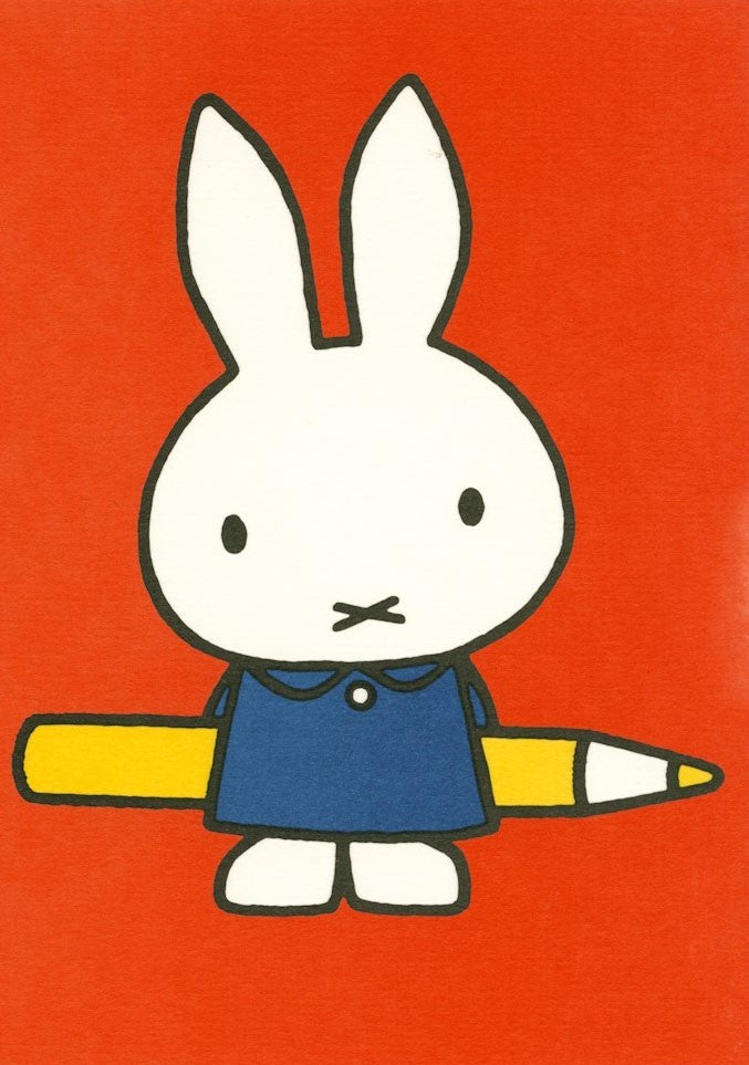Miffy Birthday Card Pencil . 17x12cm