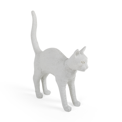 Seletti Jobby The Cat Portable LED Lamp White Cat