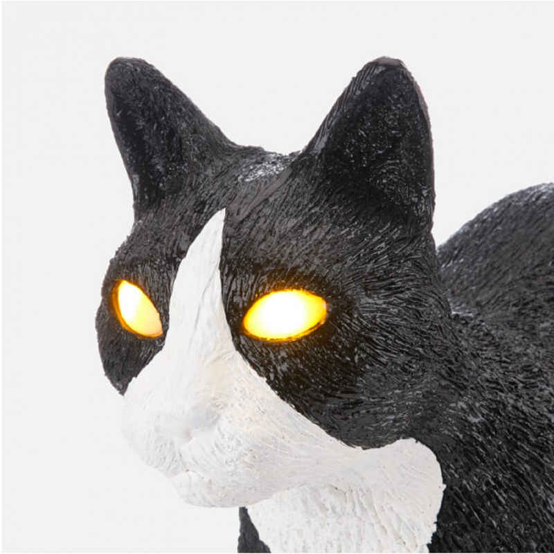 Seletti Jobby The Cat Portable LED Lamp Black & White Cat