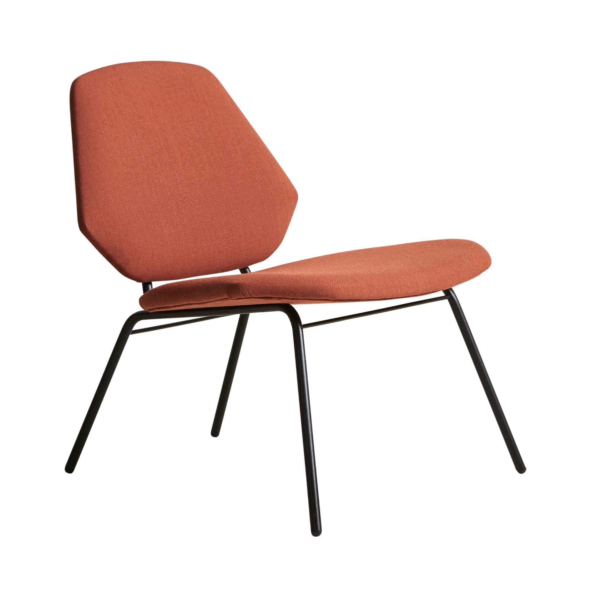 Woud Lean Lounge Chair , Rust (Crisp 04301)