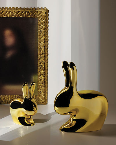 Qeeboo Rabbit Chair Metal Finish