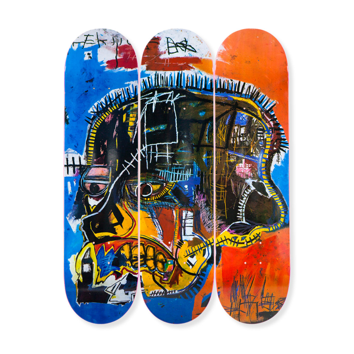 The Skateroom skateboard set, Jean-Michel Basquiat Skull