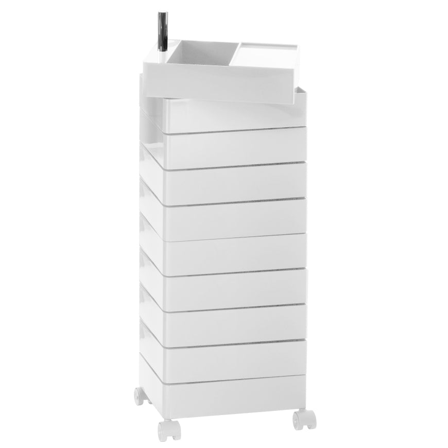 Magis 360 Degree Storage Drawer Unit . 10 Drawers in White