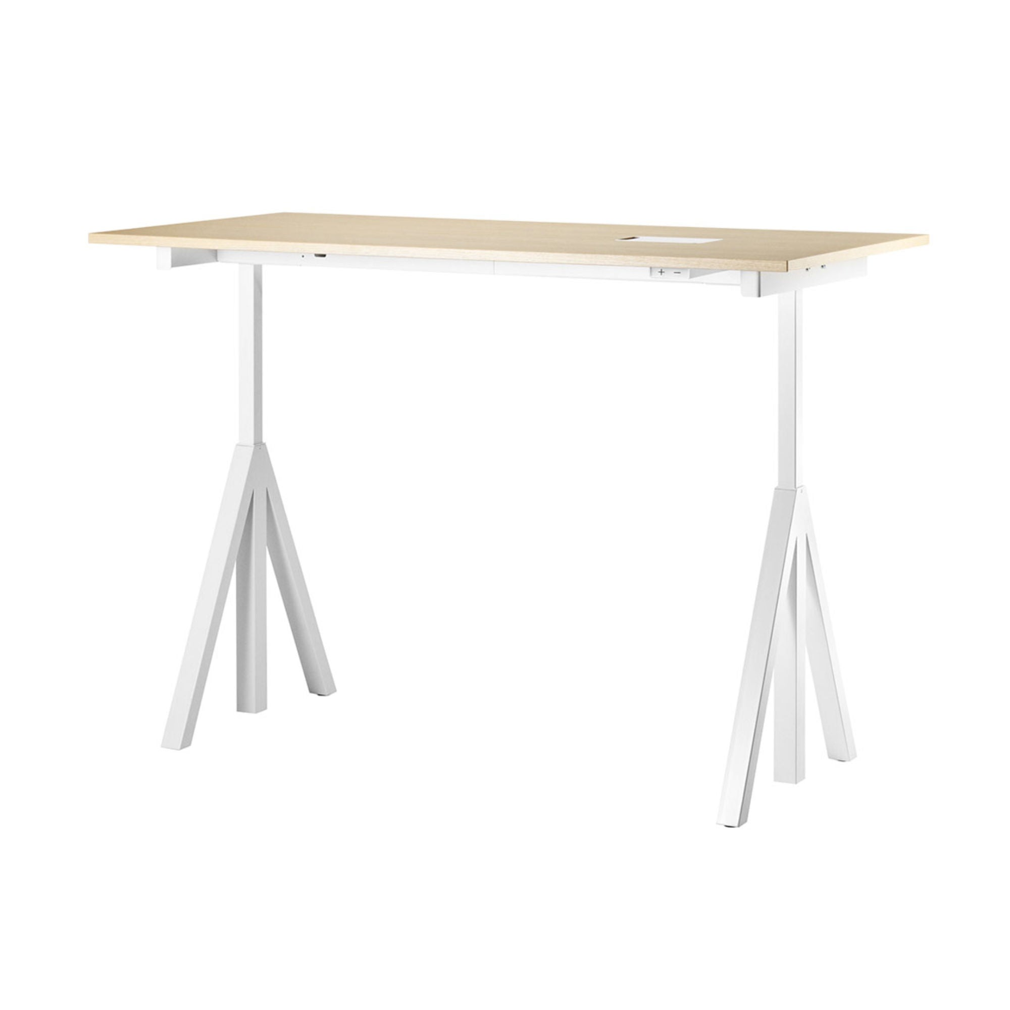 String Works™ Heigh-Adjustable Desk, Ash (120x78 cm)