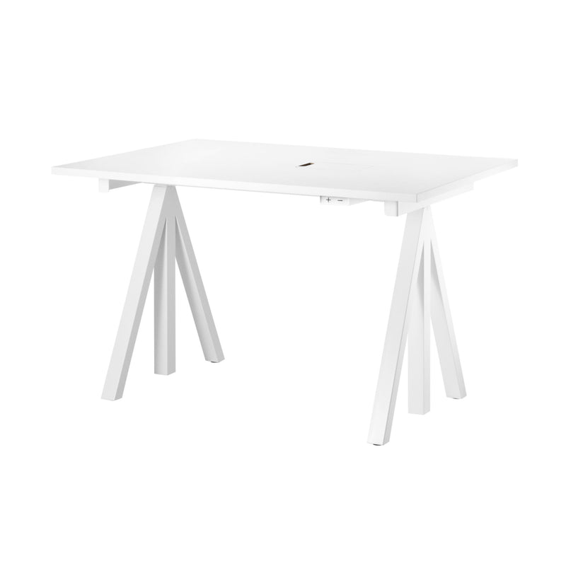 String Works™ Heigh-Adjustable Desk 120X78 , White Laminate