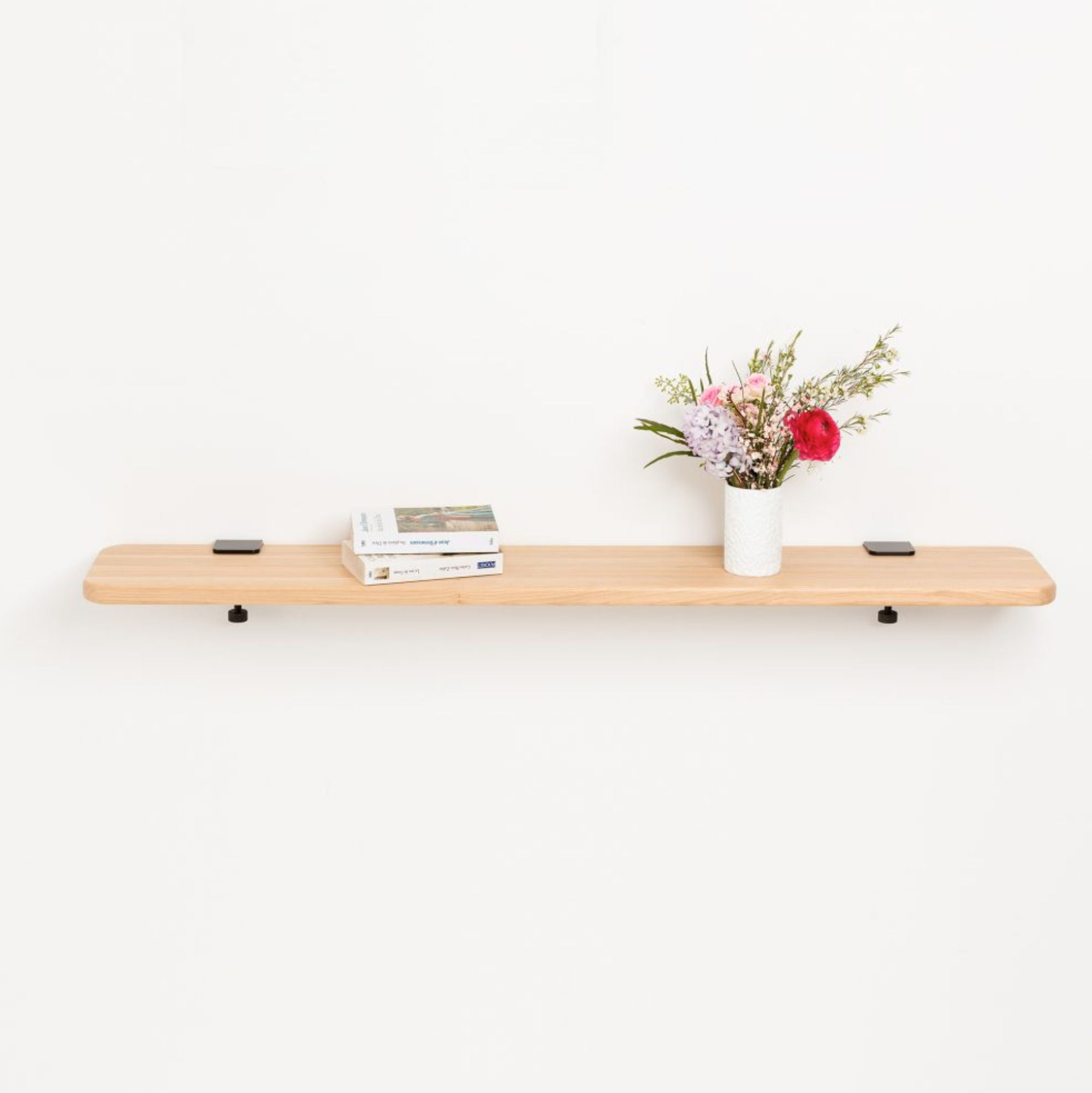 Tiptoe Solid oak shelf, 120 * 20cm