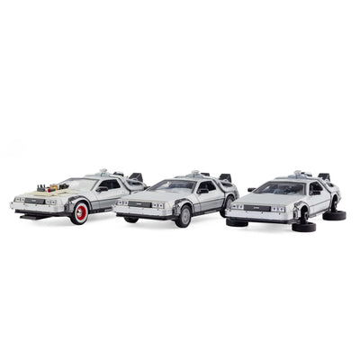 Welly Back to the Future 1:24 DeLorean Diecast Model Set of 3