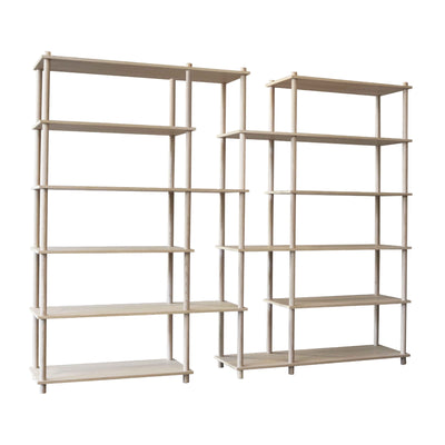 Woud Elevate Shelving System 12 , Oak