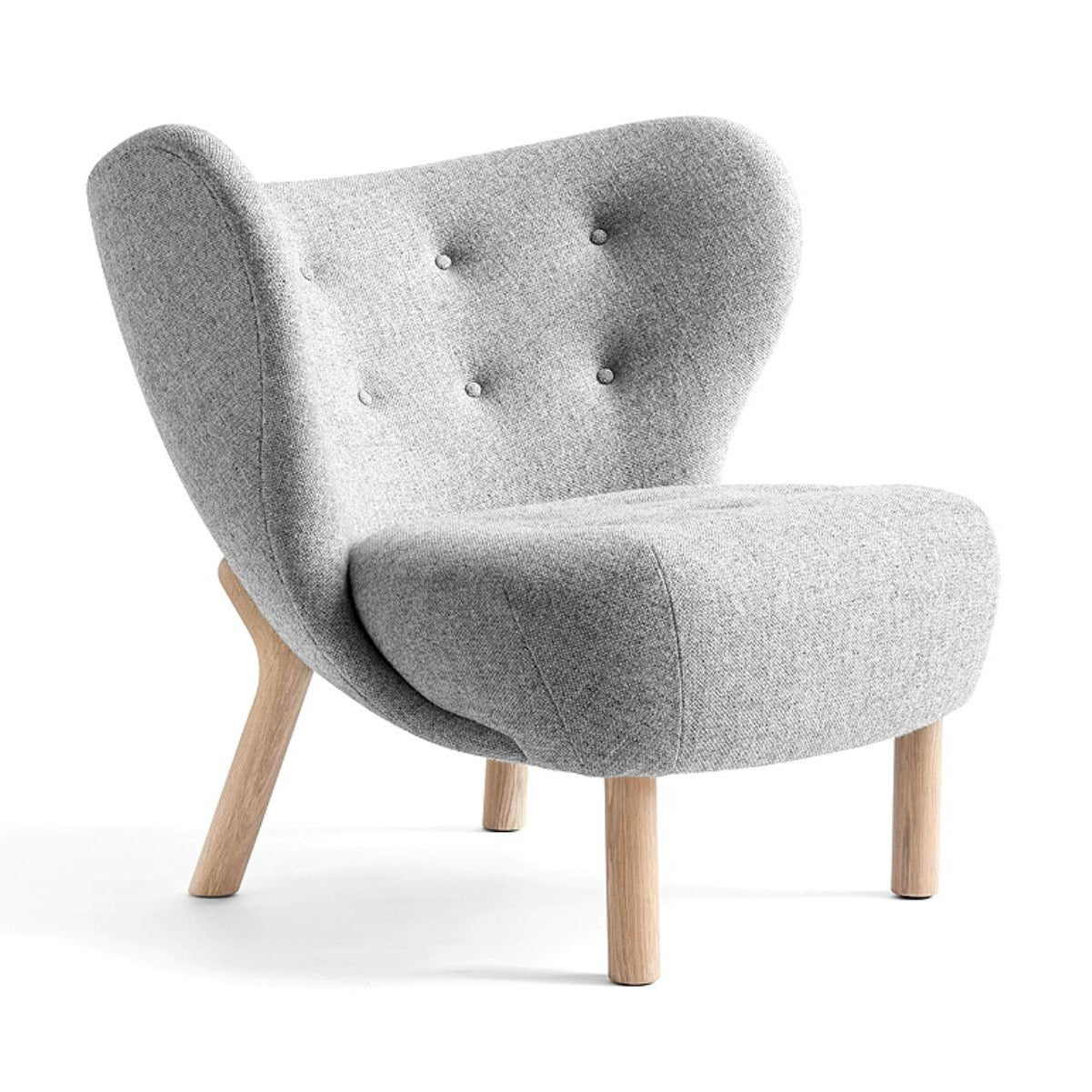 &Tradition VB1 Little Petra Lounge Chair , Hallingdal130 - White Oak