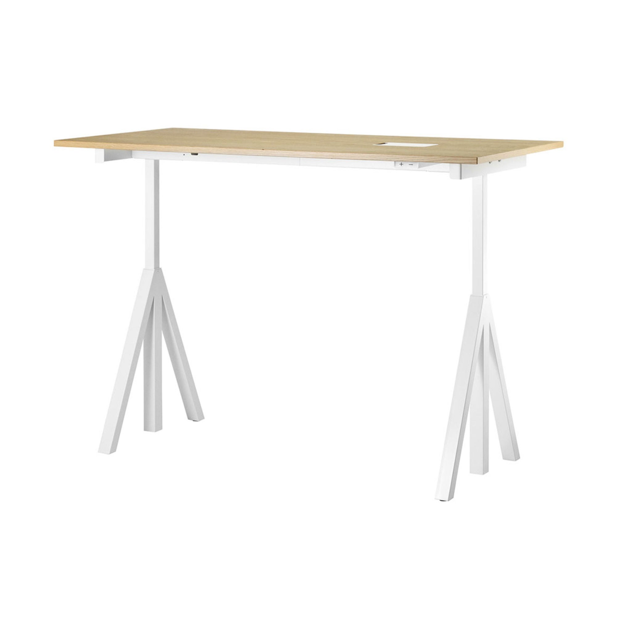 String Works™ Heigh-Adjustable Desk, Oak (120x78 cm)