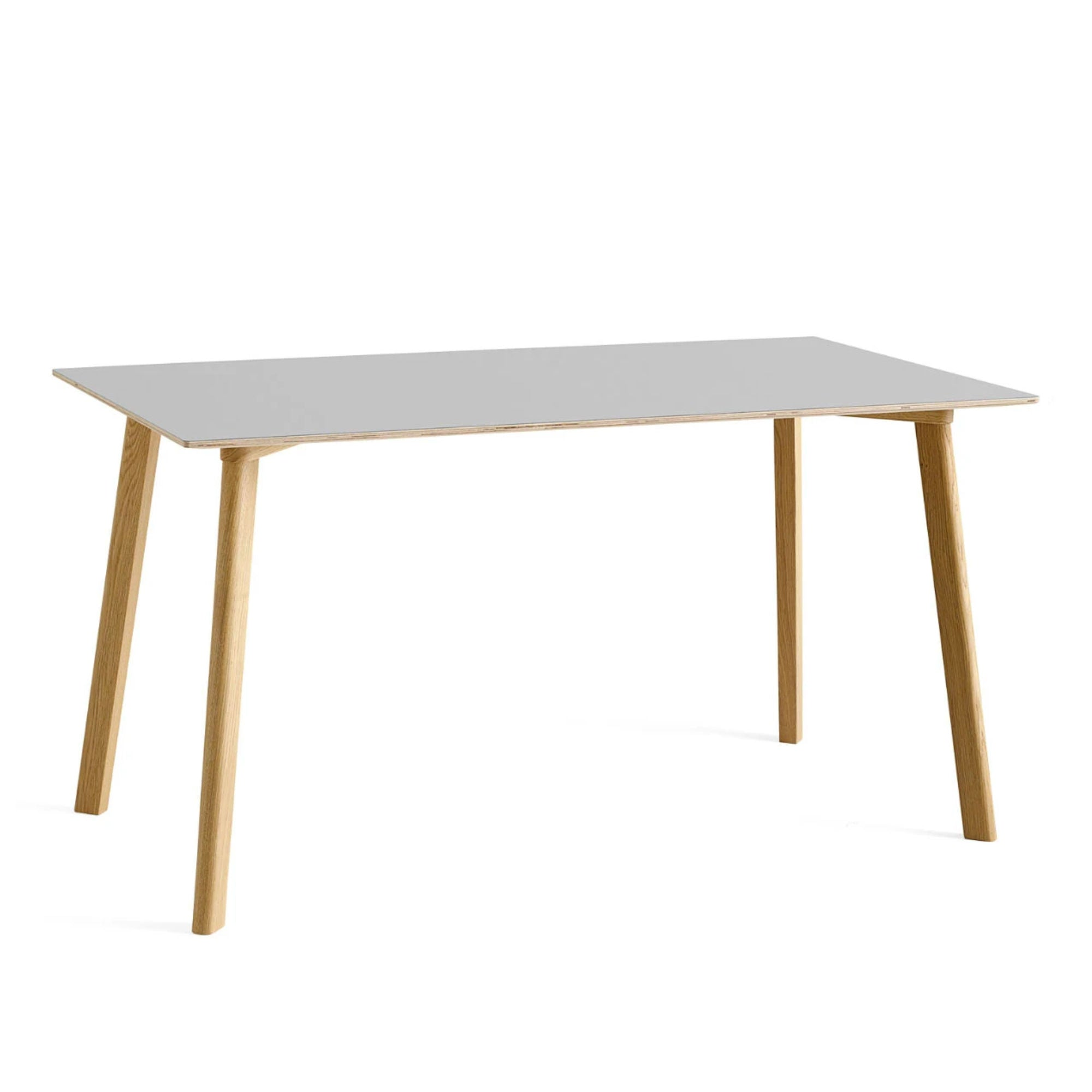 CPH Deux 210 table L140 x W75 , Dusty Grey - Matt Lacquered Oak