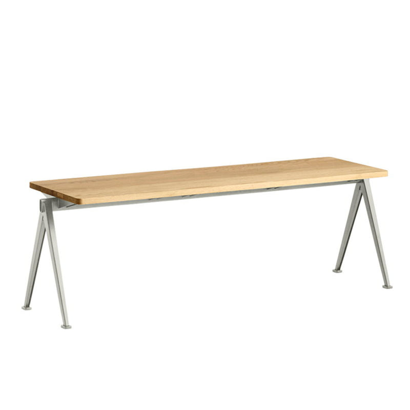 Hay Pyramid Bench 11 L140 , Beige - Lacquered Oak