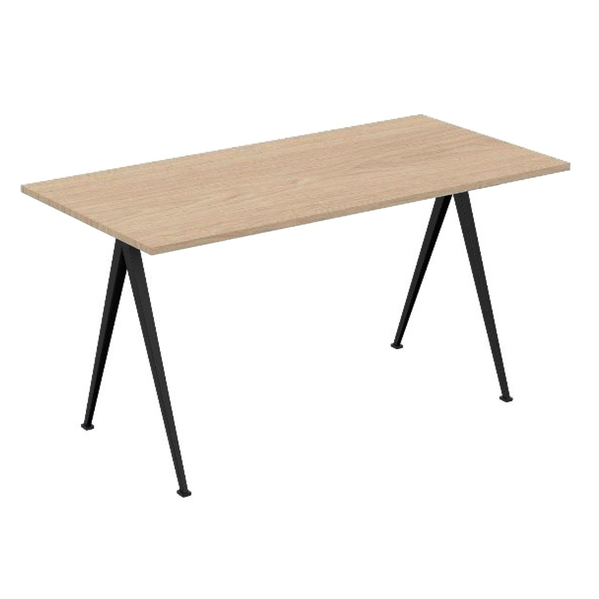 Hay Pyramid Desk 150x75 , Clear Lacquered Oak/Black