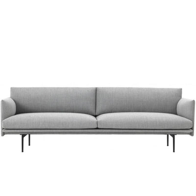 Muuto Outline sofa, 3-seater, fiord 151