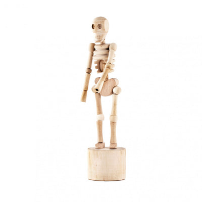 Kikkerland Lazy Bones Skeleton Wooden Collapsing String Puppet
