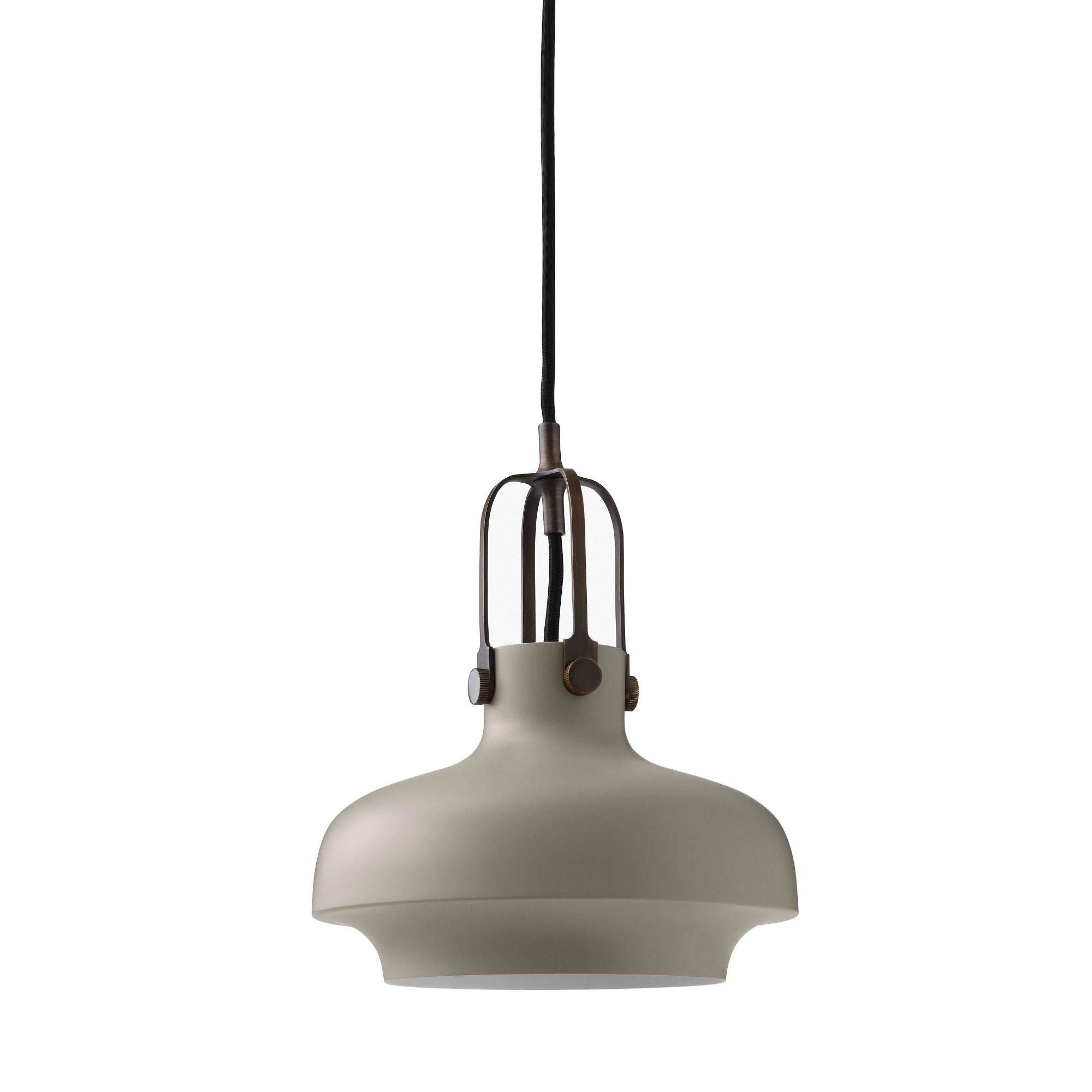 &Tradition SC6 Copenhagen pendant light, matt stone - bronzed brass suspension