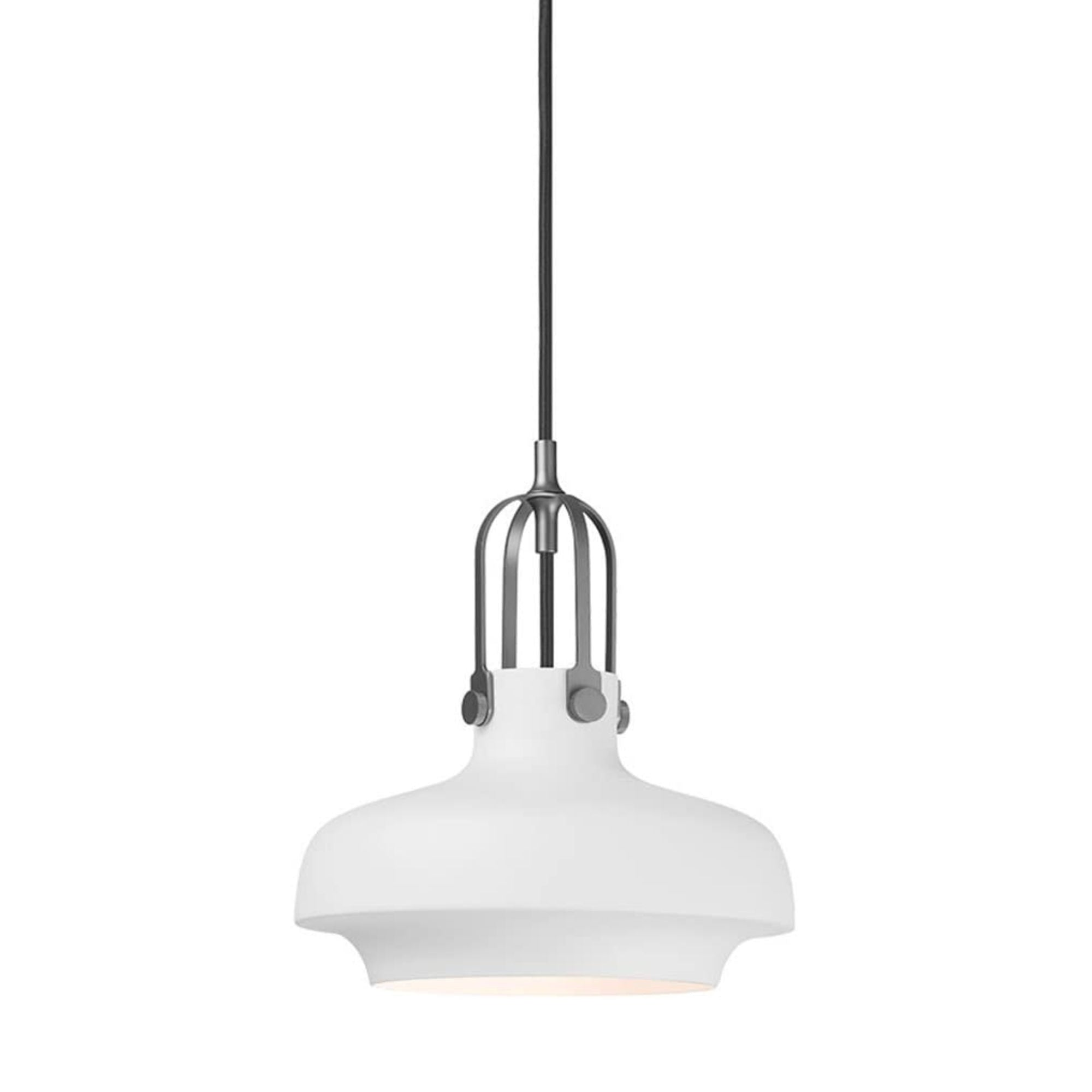&Tradition SC6 Copenhagen pendant light, matt white - silver suspension