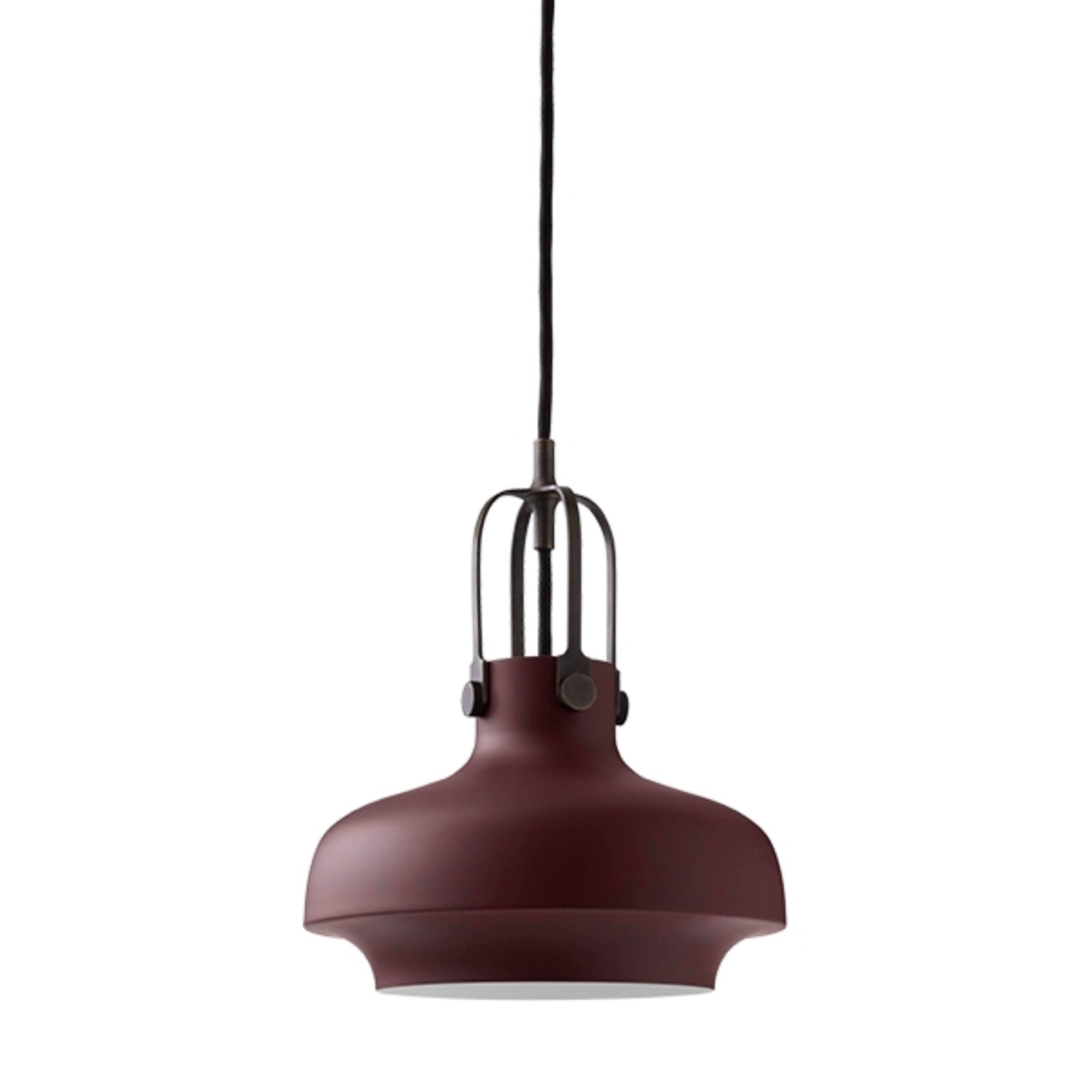 &Tradition SC6 Copenhagen pendant light, matt plum - bronzed brass suspension