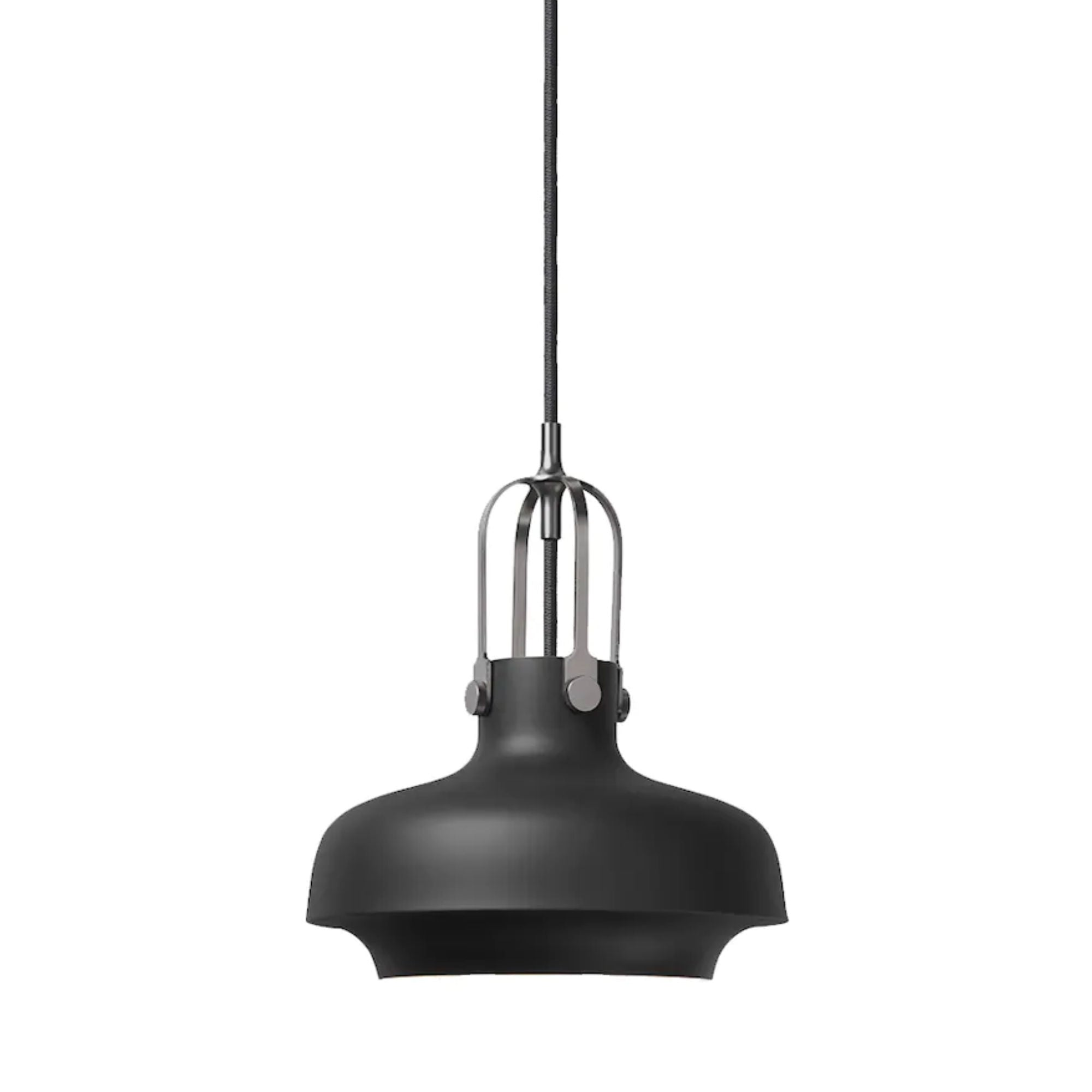 &Tradition SC6 Copenhagen pendant light, matt black - silver suspension