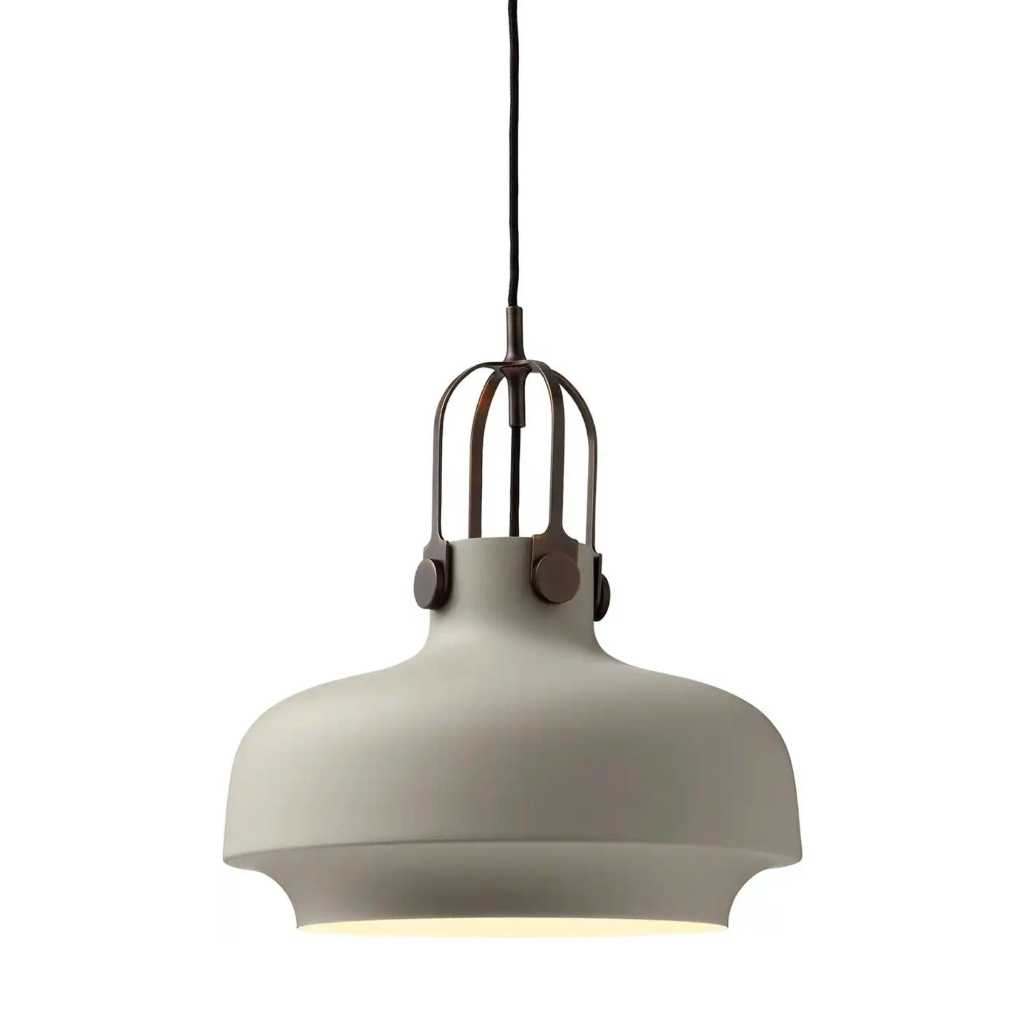 &Tradition SC7 Copenhagen pendant light, matt stone - bronzed brass suspension
