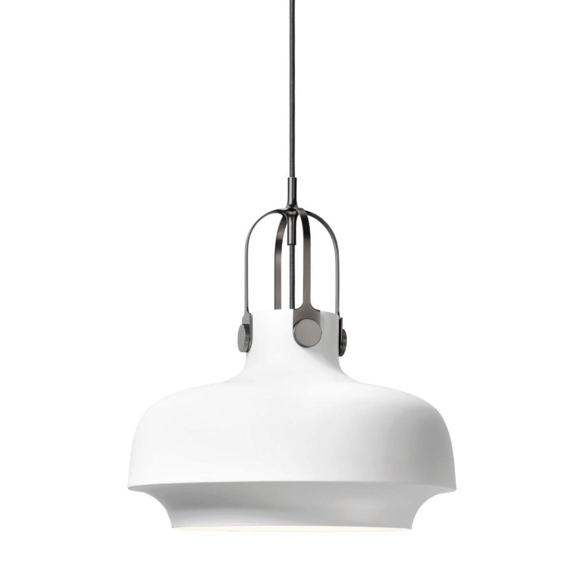 &Tradition SC7 Copenhagen pendant light, matt white - silver suspension