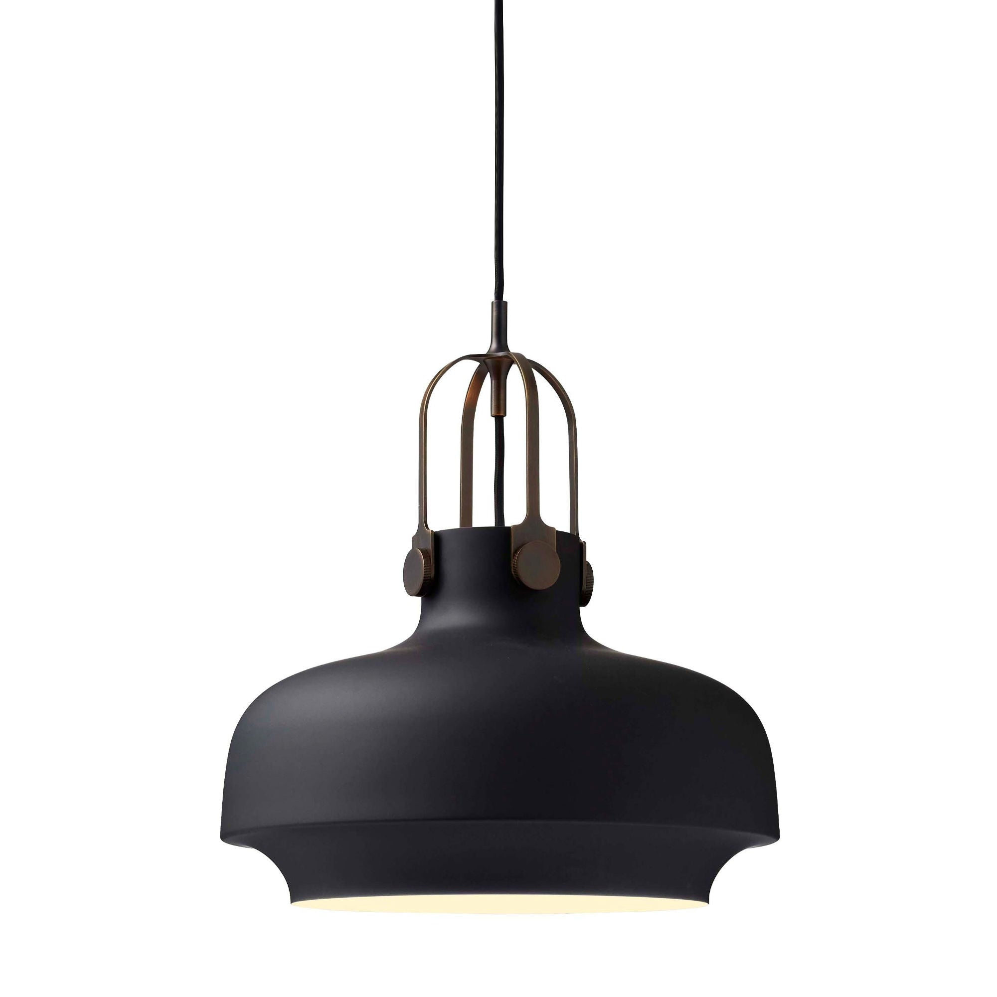 &Tradition SC7 Copenhagen pendant light, matt black - bronzed brass suspension