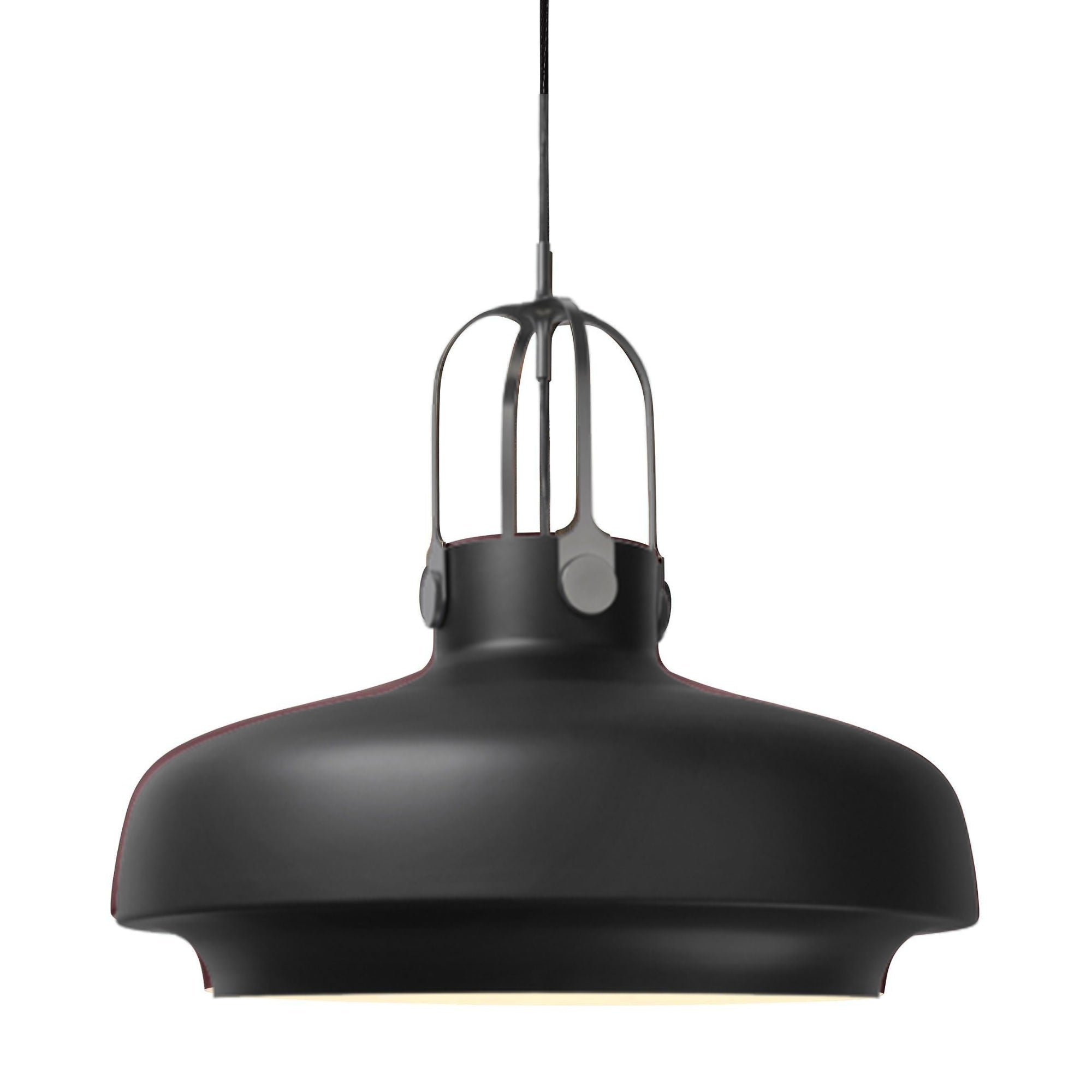 &Tradition SC8 Copenhagen pendant light, matt black - silver suspension