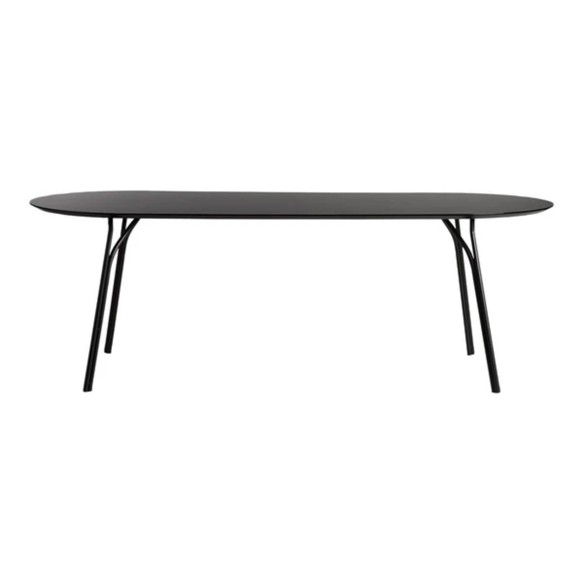 Woud Tree Dining Table 90x220cm , Black Top-Black Legs