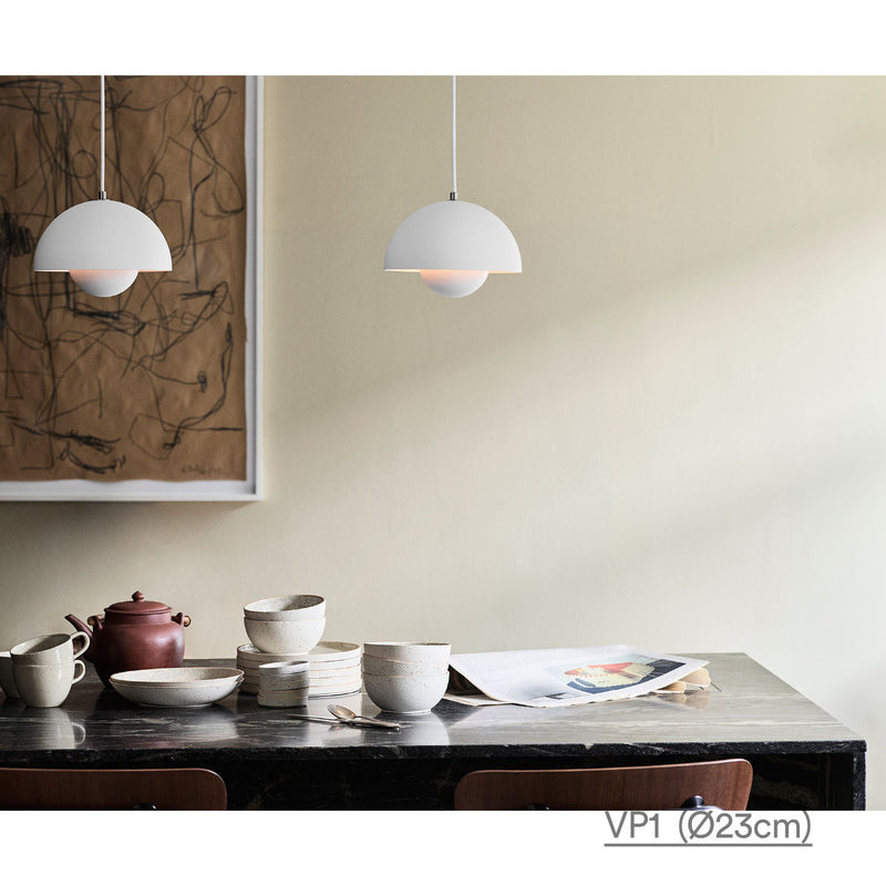 &Tradition Flowerpot pendant lamp, matt white
