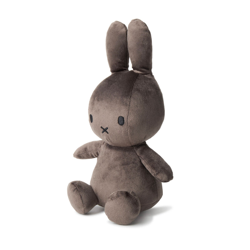 Miffy Sitting Velvetine Soft Toy 23cm , dark grey