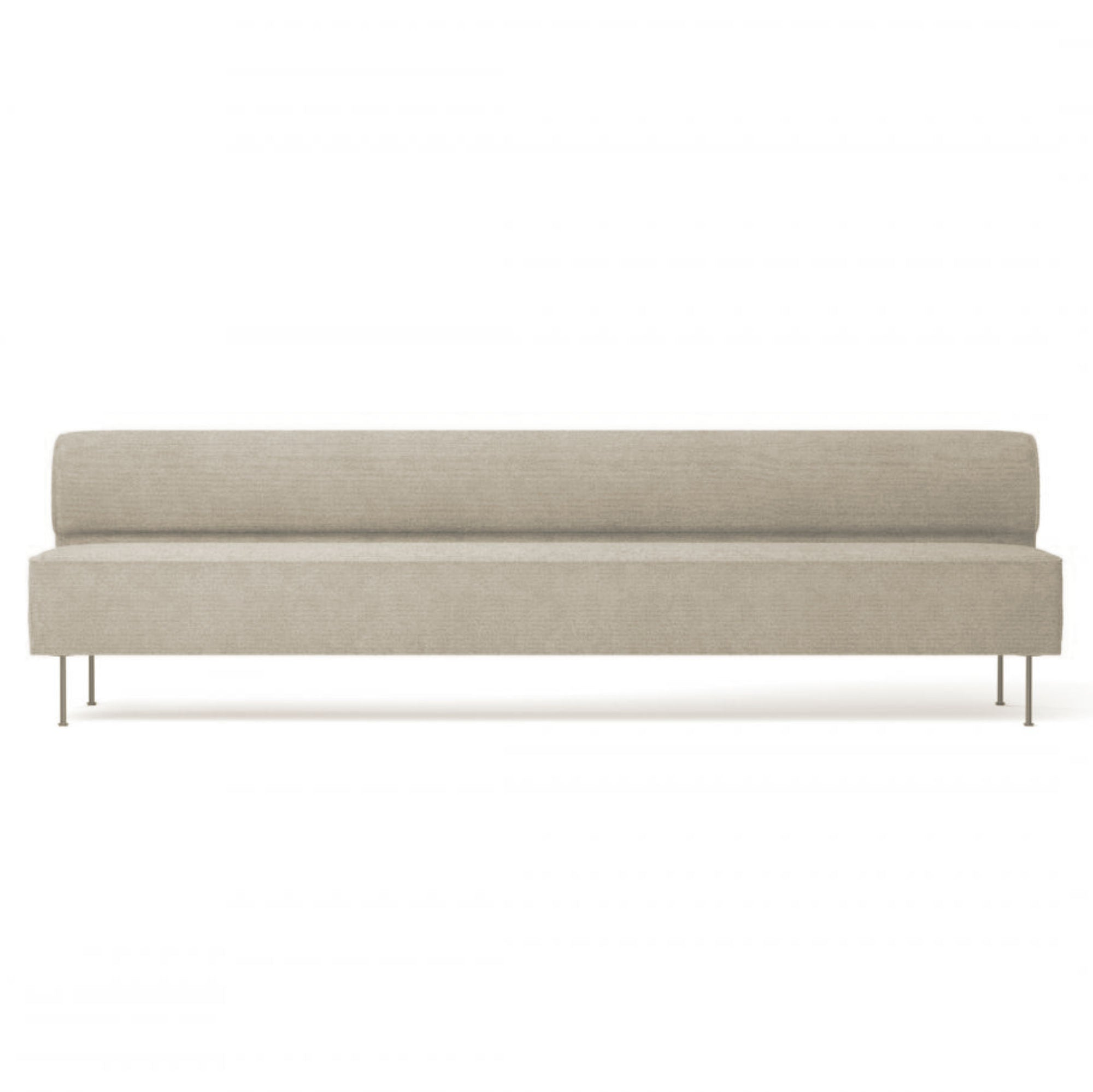 Menu Eave Dining Sofa 280 , Sacho Moss 018-Black Steel
