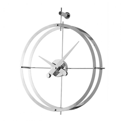 Nomon 2 Puntos Wall Clock , Polished Steel