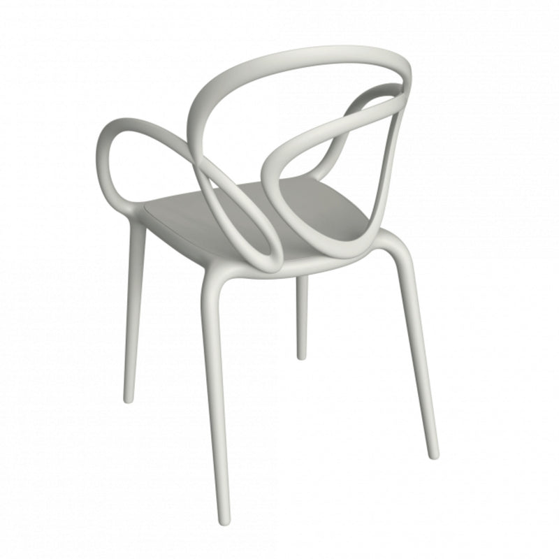 Qeeboo Loop outdoor chair, white