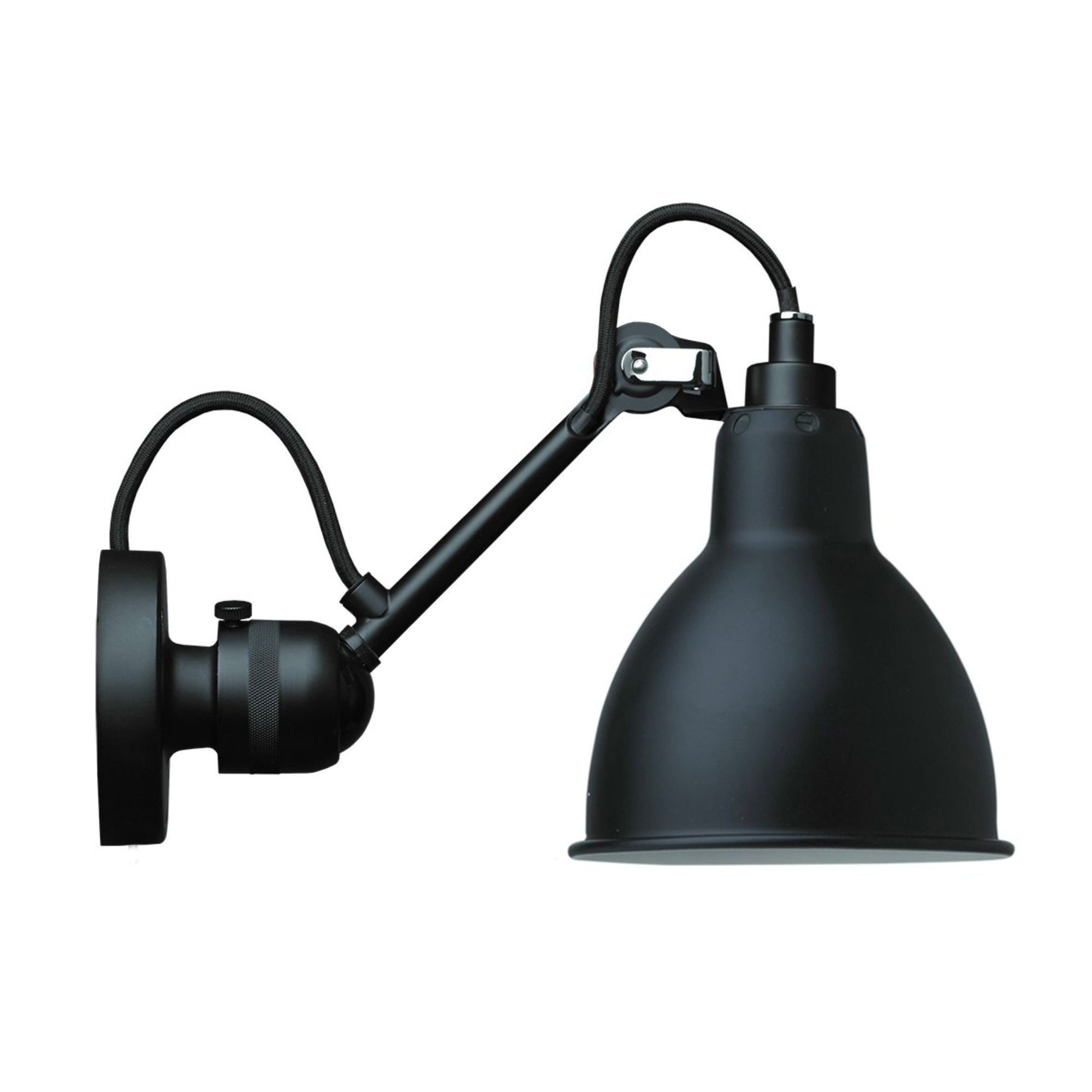 DCW Lampe Gras N304 wall lamp, round - black